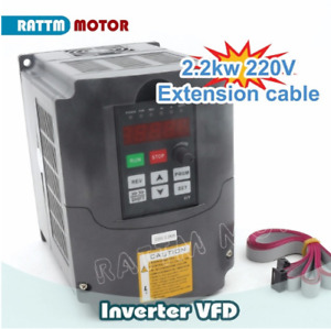 Huan Yang 2 2kw 220v 3hp Variable Frequency Drive Inverter Vfd 2m Cable For Cnc