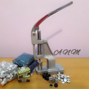 Hand Press Machine Fabric Cover Button With Two Dies and Free Buttons Craft $188.00