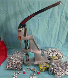 Hand Press Machine Crafts For Fabric Cover Button With Two Dies and Free Buttons $198.00