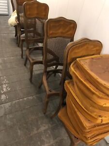 Ten Vintage Thomasville French Country Provincial Cane Dining Room Chairs