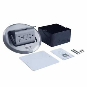ul Listed Multi application Electrical Floor Outlet Box Aluminium Cover