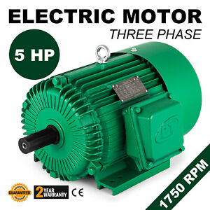 Electric Motor 5 Hp 3 Phase 1750 Rpm 1 125 General Agricultural Machinery