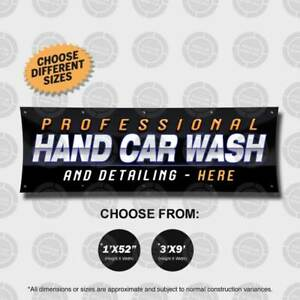 Professional Hand Car Wash Detailing Banner Sign Display Auto Lavado Spa Shop