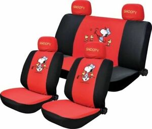New Cute 10 Pcs Snoopy Universal Car Seat Covers
