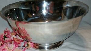 Paul Revere Reproduction Silver Footed Bowl 9x5