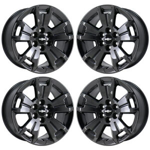 17 Chevrolet Colorado Truck Black Chrome Wheels Rims Factory Oem 5672 Exchange