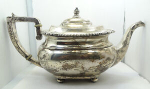 Very Nice Vintage Sterling Silver Tea Pot A7100