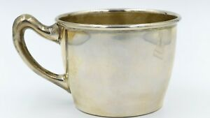 Vintage Sterling Silver Cartier Baby Cup With Handle 2308 925 Mug