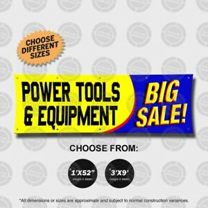 Power Tools Equipment Big Sale Banner Sign Open Display Wall Drills Clearance