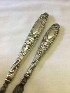 1800 S Victorian Tiffany Co Sterling Silver Nail File Cleaner Manicure Set