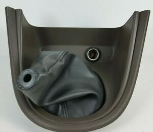 99 04 Ford Mustang Manual Shift Shifter Boot Bezel Trim Panel Dark Parchment