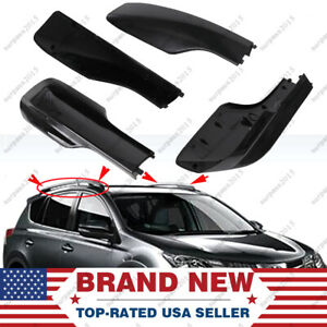 4x Black For Toyota Rav4 Xa20 01 2005 Roof Rack Cover Rail End Shell Replacement