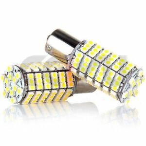 4pcs Warm White Car Rv 1156 Ba15s 120 Smd Led Backup Reverse Light Bulbs 1141