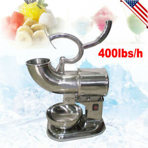 us ship Ice Shaver Machine Snow Cone Maker Shaved Icee Electric Crusher Sale