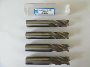 Lot Of 4 3 4 Dia Carbide End Mills