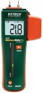 Combination Pin Pinless Moisture Meter Backlit Interchangeable Electrical Tool