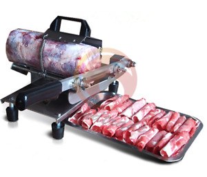 Manual Frozen Meat Slicer Kit Beef Slicing Machine Hotpot Bbq Silver New