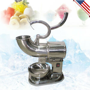 Usps Electric Ice Shaver Machine 400lbs Snow Cone Crusher Shaving Cold Drink Ce