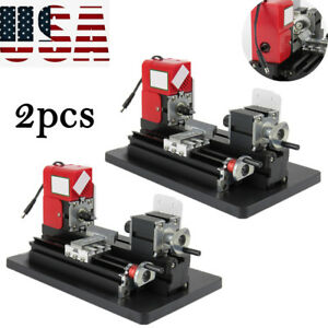 us 2pc Handy Motorized Metal Lathe Machine Saw Combined Diy Crafts Artwork