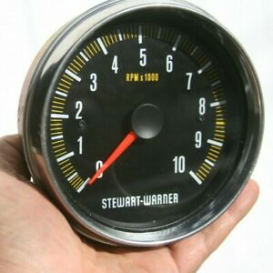 80 S Stewart Warner Trackforce 10k 10 000 Rpm 5 Mechanical Tachometer 82821