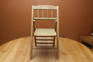 Vintage Babee Tenda Wood All Purpose Chair Child S Folding Chair 1950s