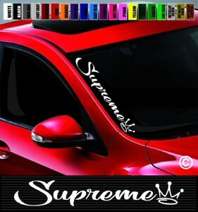 20 Supreme 1 Side Windshield Car Decal Sticker Jdm Euro Illest Street Racing