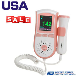 usa color Lcd Display Fetal Doppler Prenatal Heart Baby Heart Monitor 3mhz