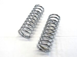 10 Tall Coil Over Shock Springs Id 2 5 Rate 200lb Chrome Bpc 2313c