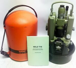Wild Heerbrugg T16 Theodolite For Surveying Excellent Condition