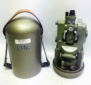 Wild Heerbrugg T1a Theodolite With Case Good Condition Sn 164526
