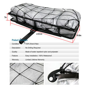 Tail Hitch Mount Rack Luggage Basket Cargo Carrier Storage Web For Chevy