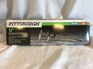 Pittsburgh 12 Inch Digital Caliper Metric Sae Model 63713
