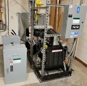Generac Industrial Natural Gas Generator 43kw 54kva With Transfer Switch