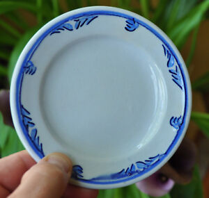 Antique Flow Blue Ironstone Staffordshire Toddy Plate Elsmore Forster Tulip No 2