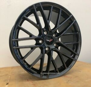 Phantom Black Chrome C6 Zr1 Corvette Wheels Fits C6 2005 2013 18 19 C6 Base