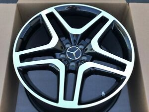 21 Gl550 Gl450 Gl63 Amg Mercedes Factory Oem Black Wheel Rim A1664012502 Tpms