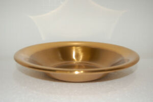 Saxtons Solid Jewelers Bronze Enamel Baked Plate 8 1 2 Inches In Diameter