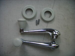 Vw Beetle Karmann Ghia Window Crank Kit 1956 1967 Volkswagen Grey