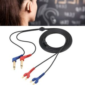 Headset Cable Wire For Headphone Air Conduction Audiometer Hearing Tester 2m Hb