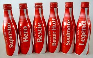 FULL LIMITED COMPLETE COCA COLA SHARE COKE COLLECTIBLE ALUMINUM ALU BOTTLES SET