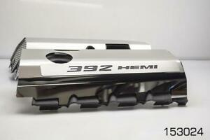 Polished Fuel Rail Covers W Carbon Fiber For 2011 2014 Srt8 6 4 392 Engines