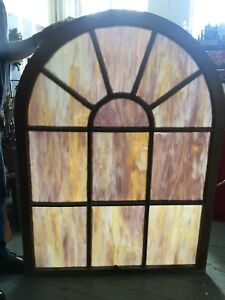 Pair Of Antique Slag Stained Glass Church Windows 400 Each