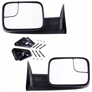 Dodge Tow Mirrors Manaul Folding For 1994 2001 Dodge Ram 1500 2500 3500 4