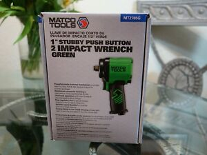 Matco 1 2 Drive Stubby Push Button Air Impact Wrench Mt2765g Gun Pneumatic