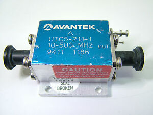 Rf Amplifier 10mhz 780mhz 38db 14dbm Avantek Utc 5 211 1 Patentix Ltd