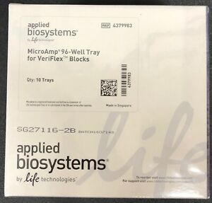 Applied Biosystems Microamp 96 well Tray For Veriflex Blocks 4379983