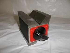 Starrett No 566 Dual Vee Magnetic V block 1 44mm Capacity I Machinist Tool