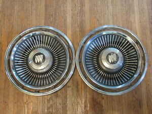 1963 63 Buick Lesabre Riviera 15 Inch Hubcaps Wheelcovers Set Of 2 X3 1903