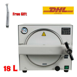 18l Autoclave Lab Dental Steam Sterilizer Medical Sterilizition W Handpiece Us