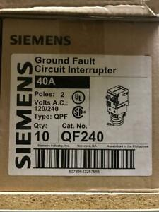 Siemens Qf240 Ground Fault Circuit Interrupter Breaker Gfci 2 Pole 40 Amps New